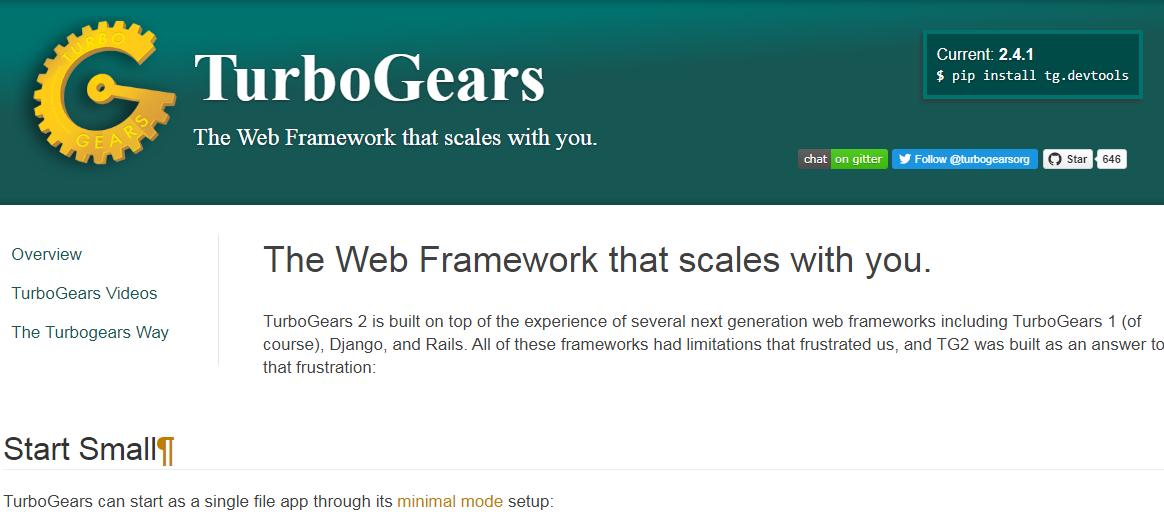 TurboGears - Python Framework