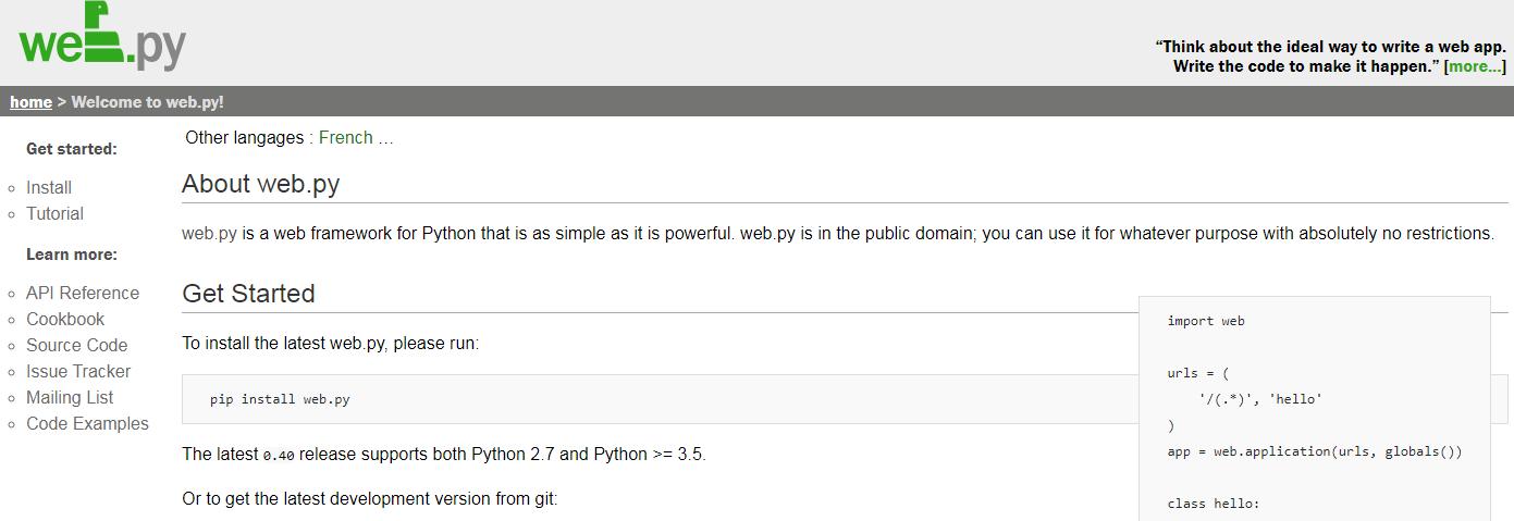 Webpy Python Framework