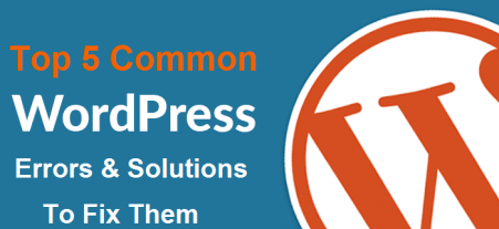 Top 5 Common WordPress Errors and the Solutions to Fix Them
